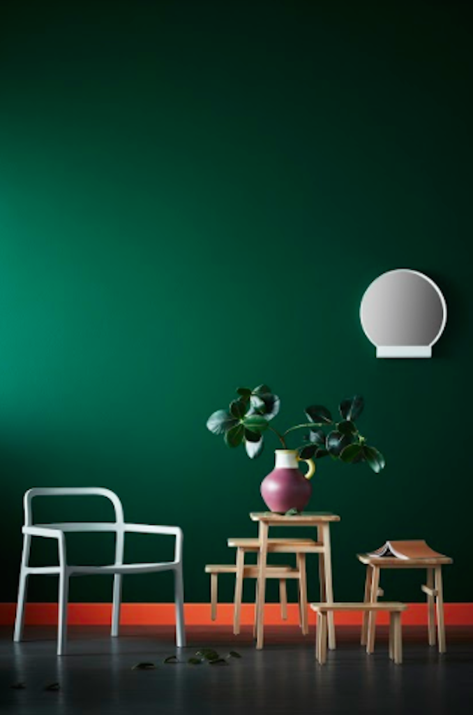 IKEA Hay Mette Rolf Danish Swedish design Scandi green room