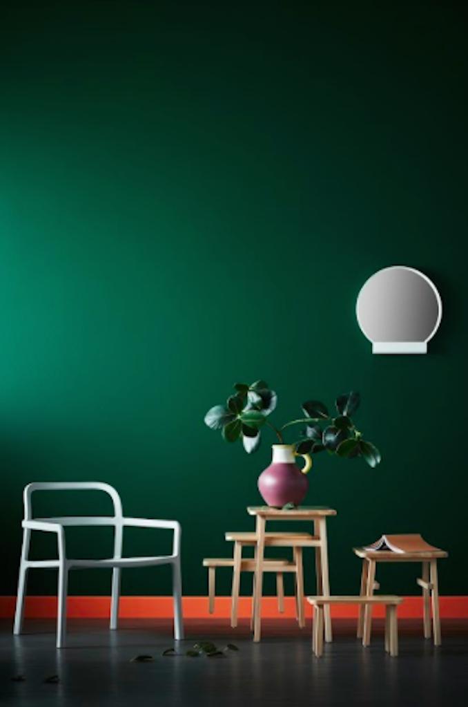 IKEA Hay Mette Rolf Danish Swedish design Scandi green room