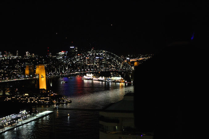 Intercontinental Hotel Sydney Supper Club THE F sydney harbour view