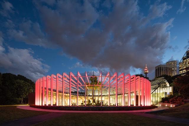 Sydney Calyx Royal botanic Gardens evening