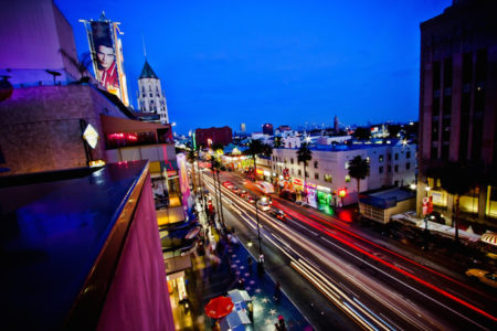 Hollywood boulevard life at blue hour!