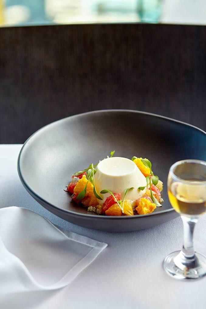 360 Bar Dining Sydney pannacotta