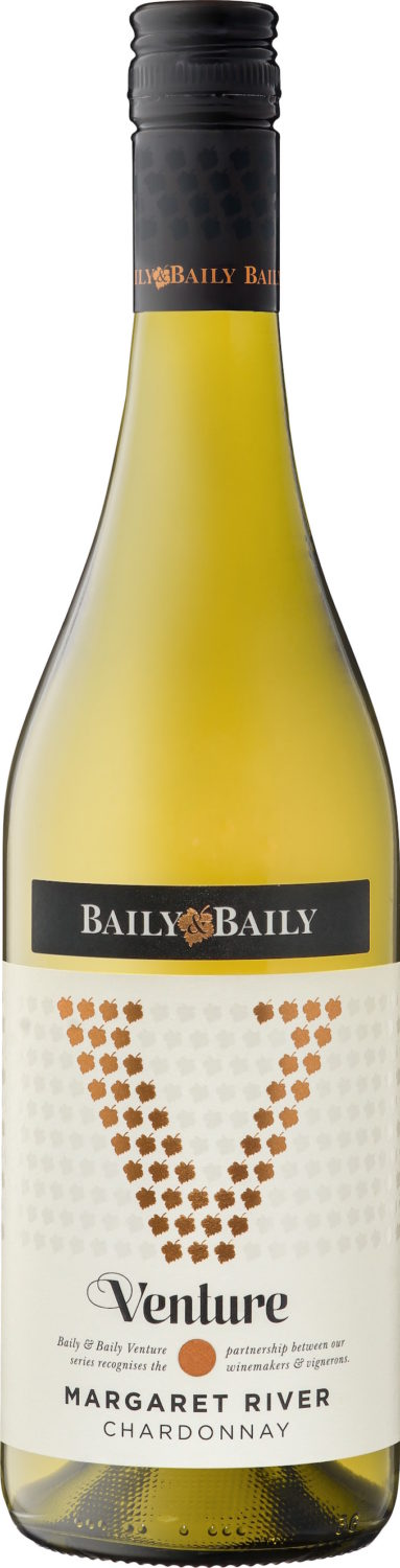 Baily and Baily Venture Series Margaret River Chardonnay RRP $10.99 available from Dan Murphys-min