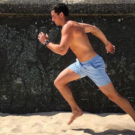 Drew Harrisberg Fitbit Ionic running