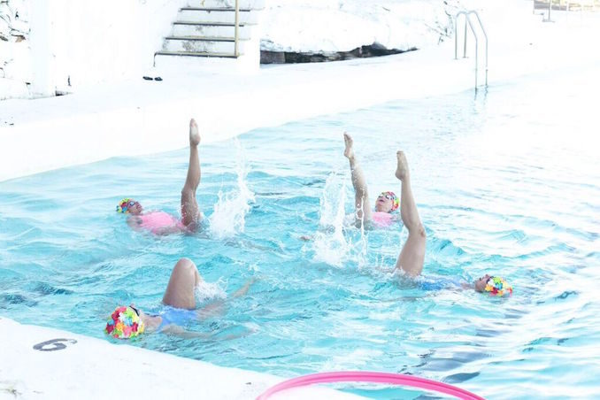 Foreo Bondi Icebergs Sydney synchronised swimmers