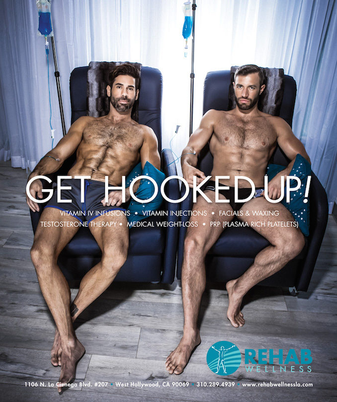 Rehab Wellness IV drip shot West Hollywood hook up