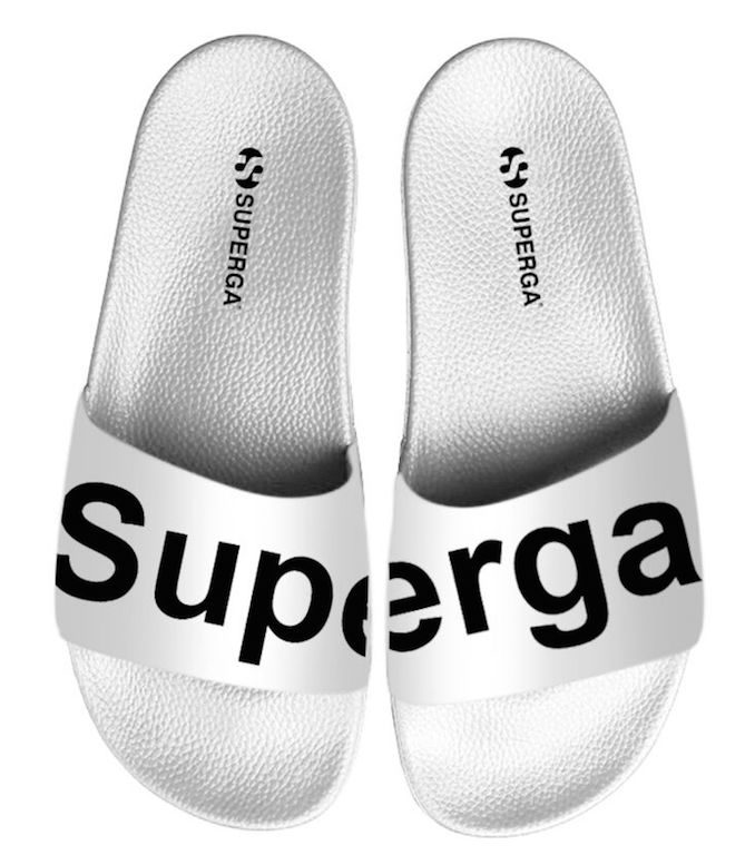 Superga slides white