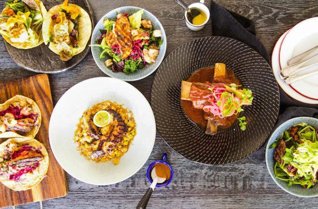 Taqiza Mexican restaurant Sydney Bondi Beach food table