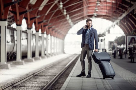 Thule Subterra Carry On train station