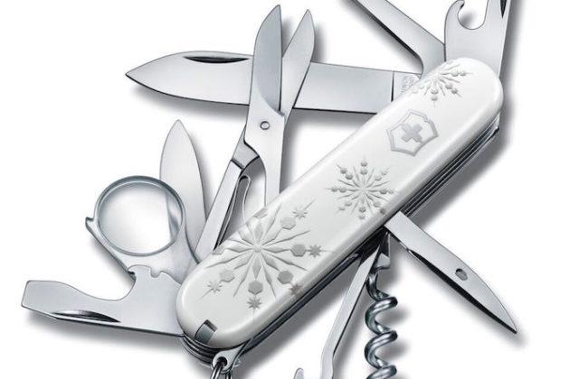 Victorinox Christmas white pocket knife full knife