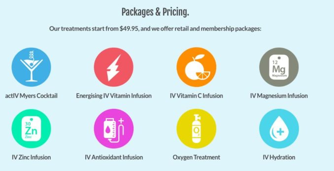 ActIV Infusion packages