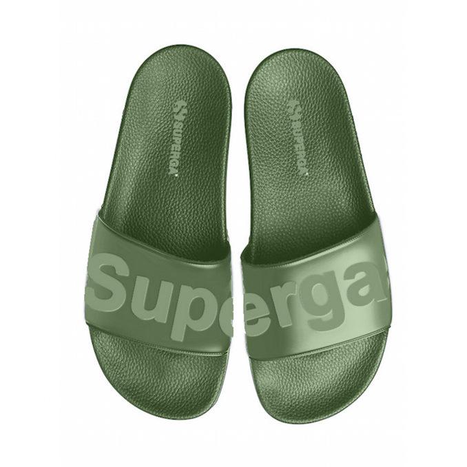 Superga slides green