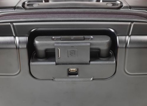 Victorinox Lexicon Hardside Frequent Flyer carry on suitcase luggage charging port