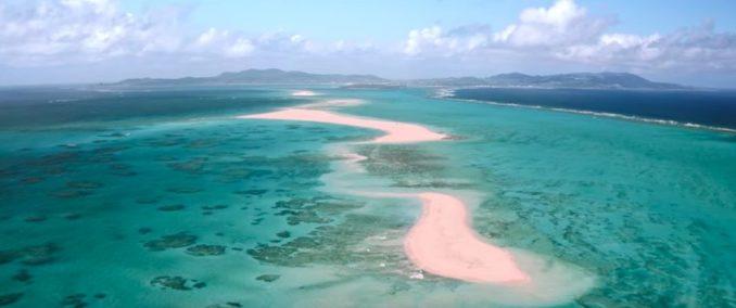 Okinawa Japan Nuchugusui aerial beach