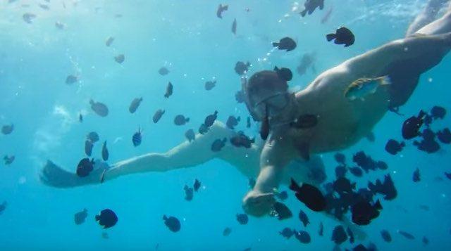 Okinawa Japan Nuchugusui snorkelling couple