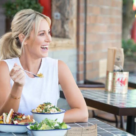 Roxy Jacenko Sweaty Betty salad smile