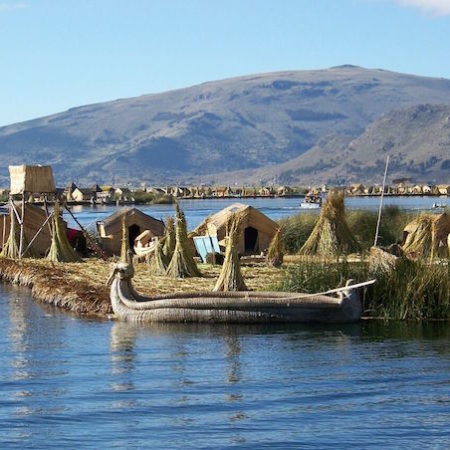 Floating Uros Islands. Lake Titicaca, Peru