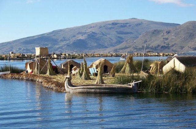 Floating Uros Islands. Lake Titicaca, Peru
