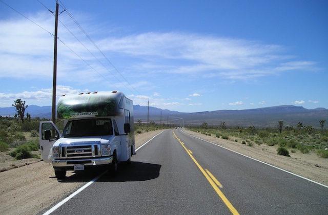 Car road trip camper van