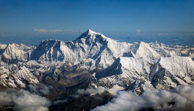 Mount Everest, aerial shot