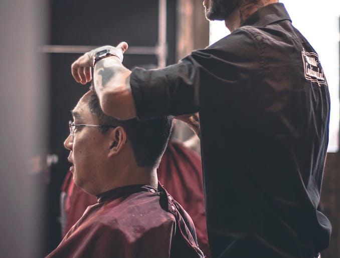 Man hair salon barber