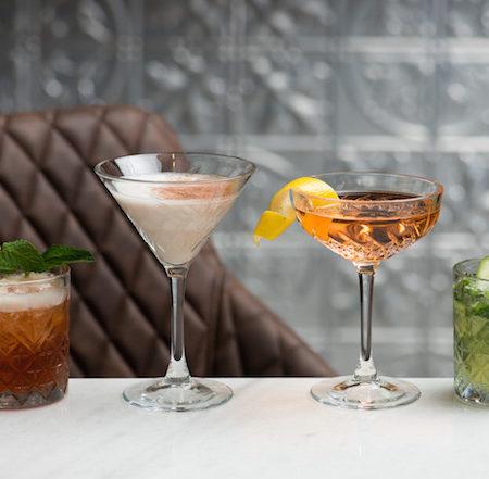 Line up of cocktails
