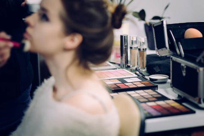 Woman salon make up