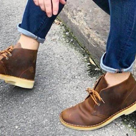 Clarks desert boot jeans