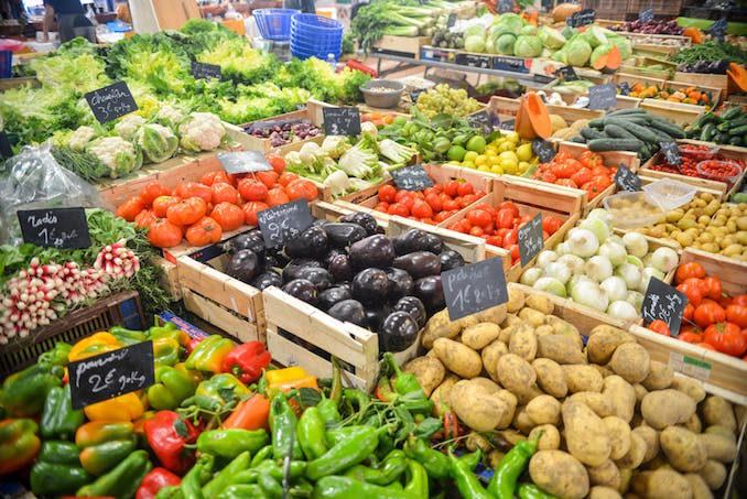 Groceries food healthy vegetables fruit