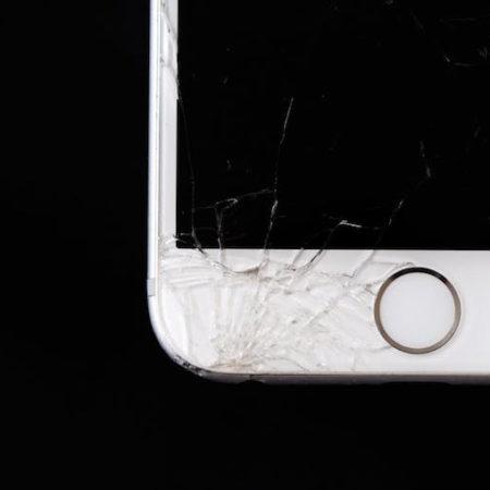 iPhone screen cracked broken