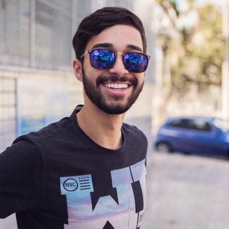 Man happy smiling sunglasses