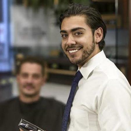 Brian Tiska grooming beard smile