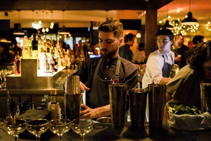 Whirly Bird bartender