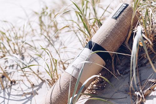 Yoga mat in beach grass