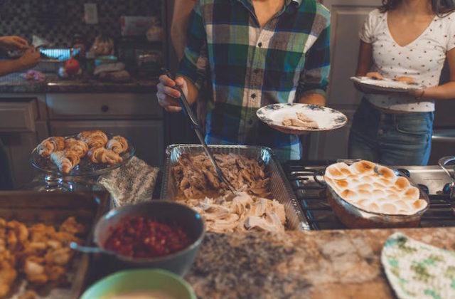 Dinner banquet buffet