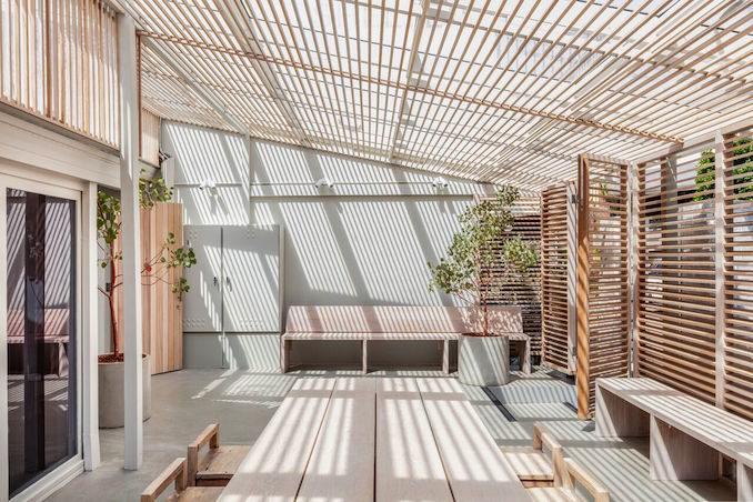 Shelter yoga sauna studio spa 6