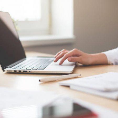 Woman work laptop computer