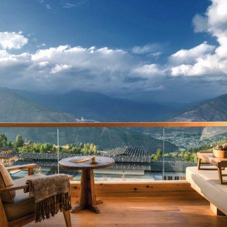 Timphu balcony view