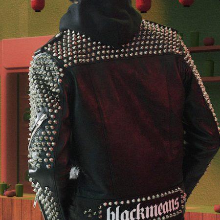 Studded leather jacket on MR PORTER