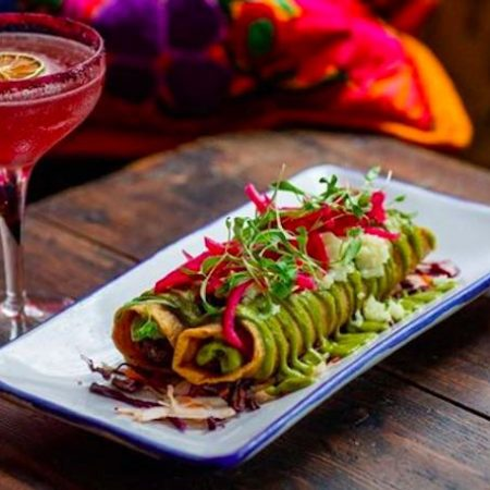 Mexican food and margaritas at Santo Remedio