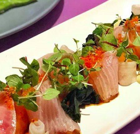 Salmon sashimi at Sash Japanese in Sydney