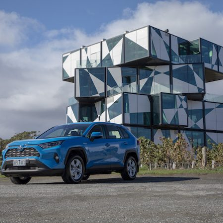 Toyota RAV4 2019 parked outside the d'Arenberg Cube in Adelaide