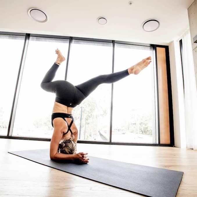 Woman doing pose in yoga