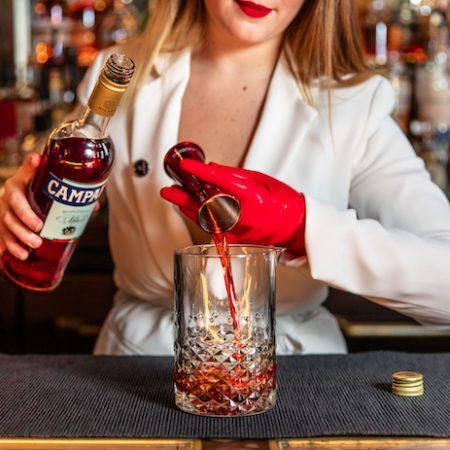 Negroni cocktail Campari