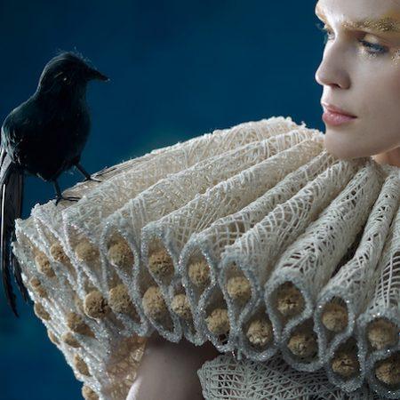 Guo Pei dress crow