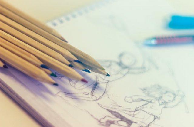 Sketching drawing pencils