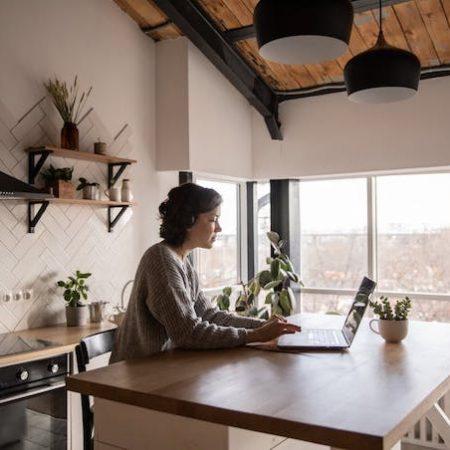Woman home work
