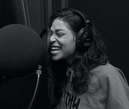 woman microphone