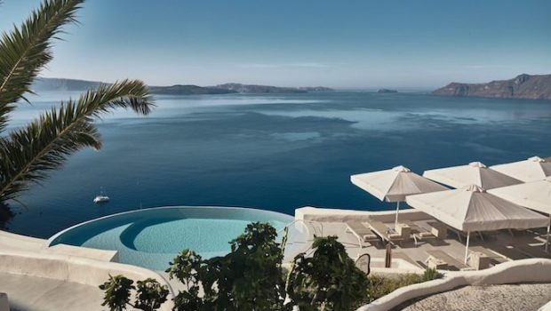 Mystique Hotel Santorini beach Greece